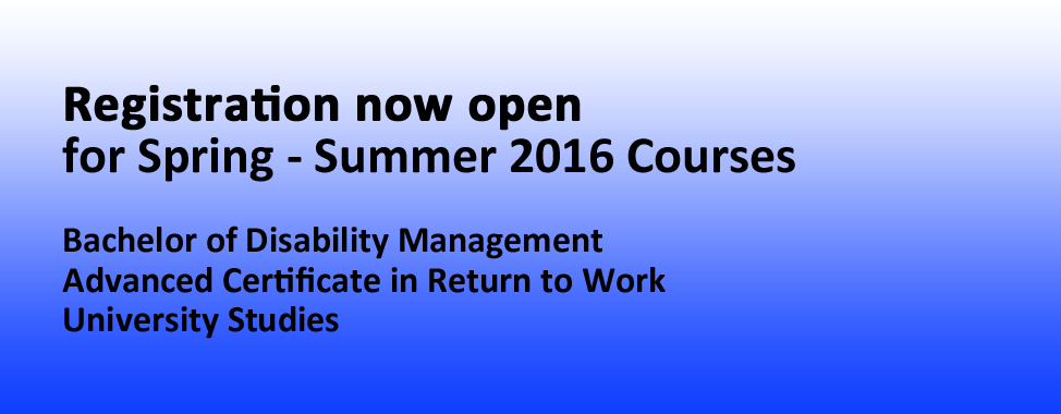 Spring-Summer 2016 Courses